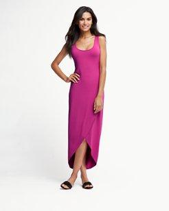 Tambour Tulip-Hem Maxi Dress