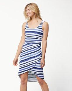 Aquarelle Stripe Tambour Dress