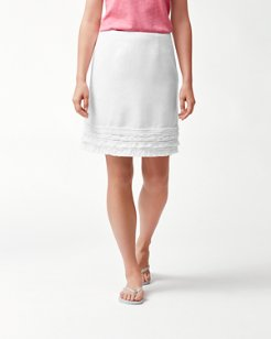 Two Palms Ruffle Linen Skirt