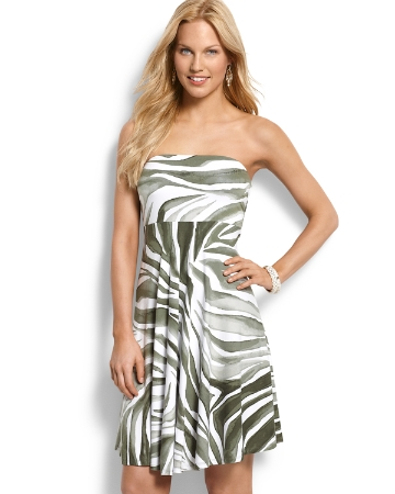 Convertible Dress on Zebra Palm Convertible Dress