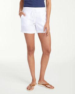 Two Palms 5-inch Drawstring Linen Shorts