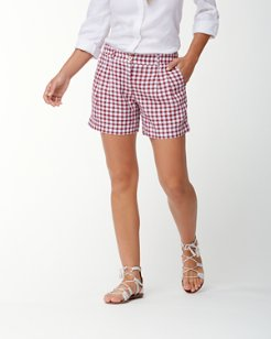 Gingham the Great 5-Inch Linen Shorts