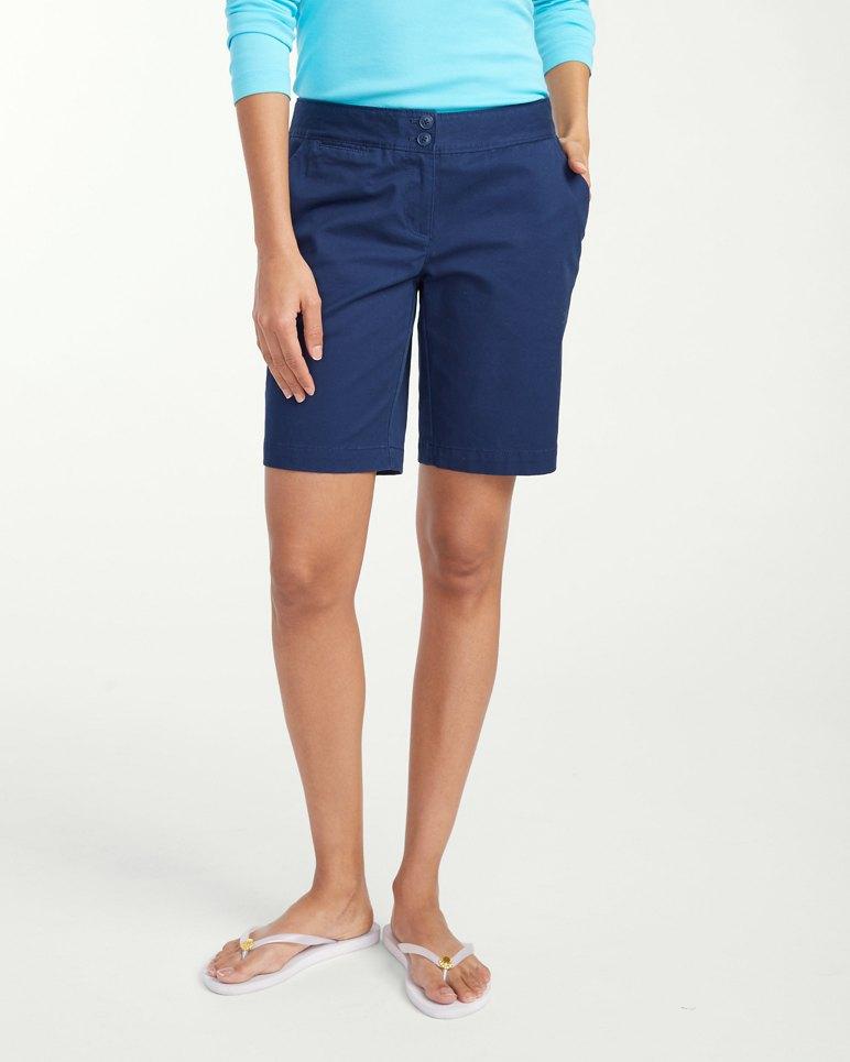 Sail Away Twill 9 Inch Bermuda Shorts