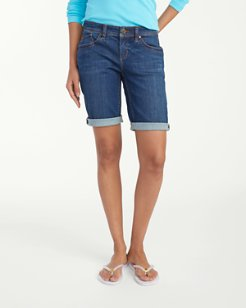 Kelton Denim 11-inch Bermuda Shorts