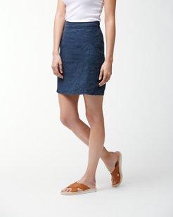 Pick Leaf Linen Skirt