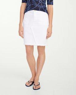 Ana Twill Overlap Skirt