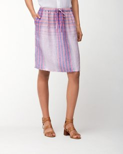My Big Greek Plaid Linen Skirt