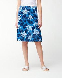 Olympias Blooms Linen Jersey Skirt