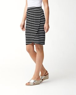 Portside Stripe Tambour Skirt